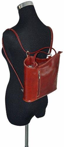 In pelle italiana, borsetta, borsa o zaino.Versioni di medie e grandi dimensioni.Include una custodia protettiva marca. Marrone (marrone)