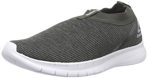 Reebok Men's Delta Slip On Lp Black/Chalk Green Running Shoes-9 UK/India (43 EU)(10 US) (DV7875)