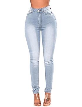 LuckyGirls Pantalones Mujer Vaqueros Cintura Alta Originals Casual Pantalón Moda Skinny Legging Elasticos Sexy...