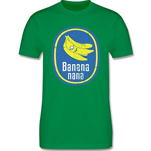 Comic Shirts - Banana nana Vintage - Herren Premium T-Shirt Grün