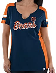 """Chicago Bears Women's Majestic NFL """"Pride Playing 2"""" V-notch Fashion Top shirt Chemise"""