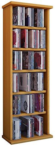VCM Torre para CD/DVD 'Vostan haya' para 150 CDs, sin puerta de cristal.