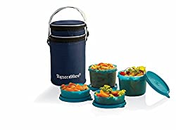 Signoraware Executive Lunch Box with Bag, 15cm, T Blue