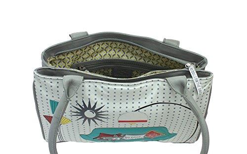 Mala Leather Collezione BEAU Tracolla in Pelle 795_89 Grigio Grigio