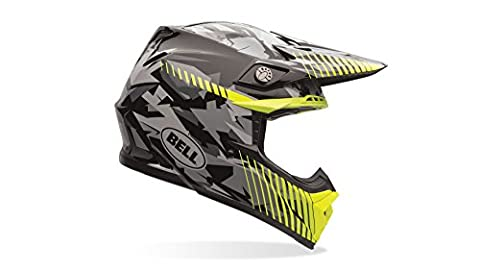 Bell Power Sports ar-600012–048 Moto-9 Casque de moto, multicolore (Jaune Camo), Taille : XXL