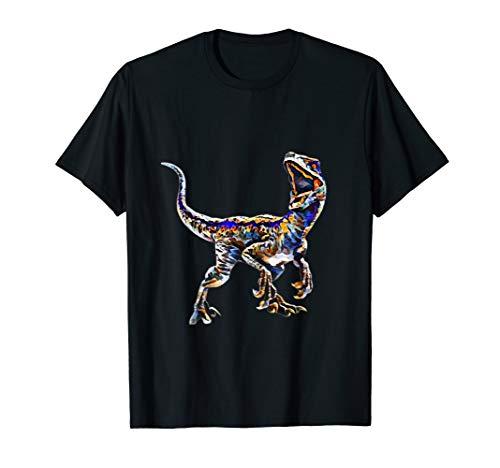 Velociraptor T-Shirt Dinosaurier Museum Geschenk Urzeit -