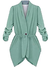 EKU Women's Blazer Jacket Coat Casual Stylish Fitted Suit Coat