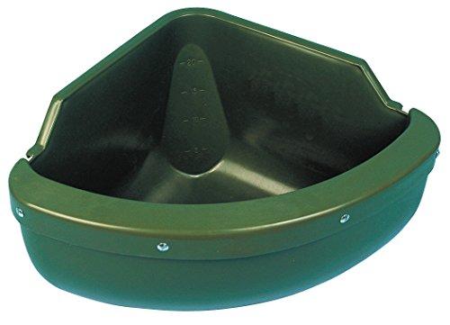 Kerbl Mangeoire d'Angle avec Rebord en PVC pour Cheval 31 L