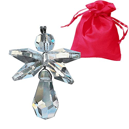 Christoph Palme Leuchten Schutzengel aus Kristallglas 35mm im Geschenksäckchen zum aufhängen Kristall Engel Charmes Glücksbringer Geschenk Giveaway Dekoration...