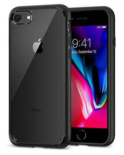 iPhone 7 Hülle, iPhone 8 Hülle, Spigen [Ultra Hybrid 2] Verstärkter Kamera- und Buttonschutz [Schwarz] Zweite Generation des Ultra Hybrids Einteilige Transparent Handyhülle Durchsichtige PC Rückschale mit Silikon TPU Bumper Schutzhülle für Apple iPhone 7 / iPhone 8 Case Cover - Black (042CS20926) Beste Qualität-kopfhörer