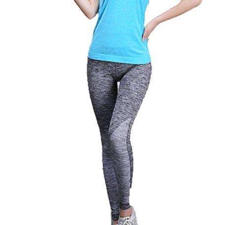 Hippolo Damen Sporthose Yoga Fitness Gym Laufen Jogging Tennis Squash Hockey Leggings Stretch-hose (XS/S, grau)