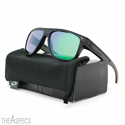 Sunglasses Oakley Breadbox OO 9199 919906 Unisex Black Square Green Mirrored - Jade Unisex Sonnenbrille