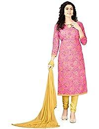 Dress (V.K.Creation New Designer Fancy Dress Material For Woman Pink Colour Dresses For Women Kurtisanarkali Dress...