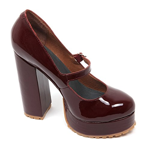 Jeffrey Campbell C3628 Decollete Donna Adorlee Scarpa Bordeaux Shoe Woman Bordeaux