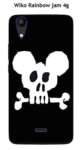 Coque Wiko Rainbow Jam 4G design Mickey Skull