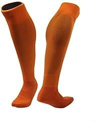 Rodilla calcetines de fútbol de alto peso ligero de secado rápido cómodo Deporte Socks(naranja)