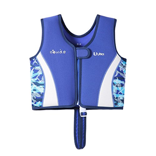 Hony Gilet da Nuoto per Bambini - Costume da Bagno Galleggiante Le Ragazze dei Ragazzi Costumi da Bagno di Galleggiamento per Imparare a Nuotare Piscina Spiaggia