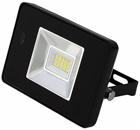 AdLuminis LED Fluter mit Integriertem Bewegungsmelder und Fernbedienung, 10W 20W 30W Flutlicht-Strahler, Energieklasse A++, LED-Strahler für außen und innen (10w schwarz)
