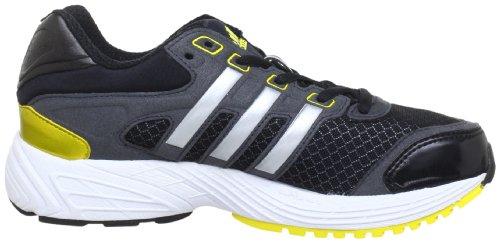 adidas Supernova Glide 5 xJ Q23795, Sneaker unisex bambino Nero (Schwarz (Black 1 / Metallic Silver / Vivid Yellow S13))