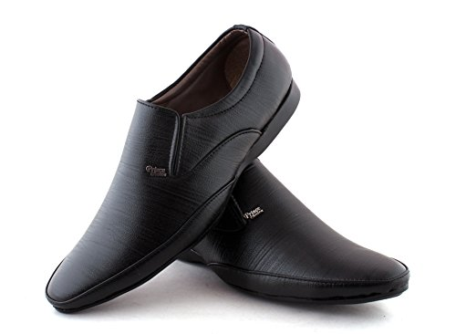 Alestino Men's Leather looks Formal Shoes ALES060_8Black image - Kerala Online Shopping