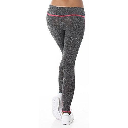 Jela London Damen Fitness Leggings Neonpink - 3