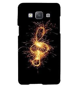 PrintVisa Music Note Fireworks Design 3D Hard Polycarbonate Designer Back Case Cover for Samsung Galaxy A3