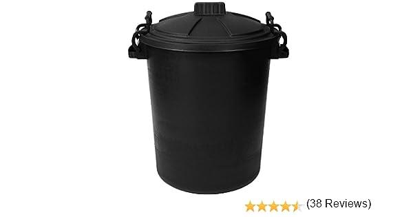 ou pour nourrir les animaux Noire 85 Litre Poubelle en plastique avec couvercle CrazyGadget/® Grande poubelle tr/ès r/ésistante pour le jardin les d/échets
