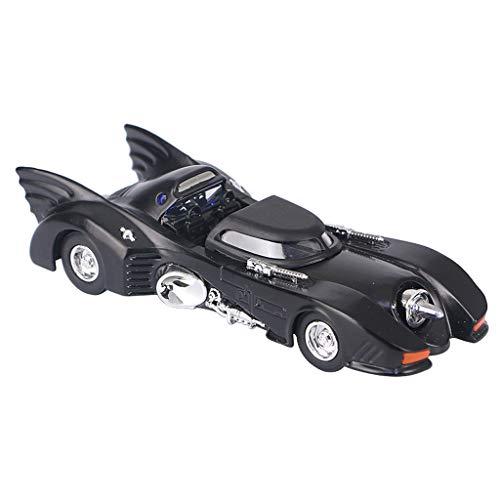 PENGJIE-Model Batman Alliage modèle de Voiture Tirer en arrière Son et lumière Jouet Simulation de Voiture Voiture Classique Voiture Char de Sport Voiture métal Porte Ouverte (Couleur : Noir)