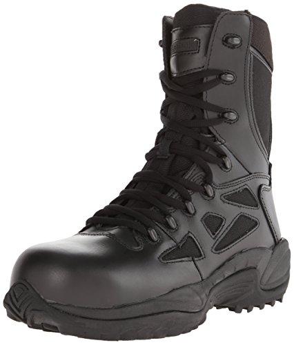Reebok Work Men's Rapid Response RB 8&Quot; Comp Toe Black Boot 15 E - Wide Comp Toe Boot