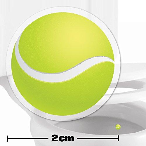 Toilettenhilfe für Kinder Säuglinge Jungs Lustige Badezimmer Bad Töpfchen Pinkelhilfe 10 x Tennisball Zielhilfe Aufkleber (2 cm)