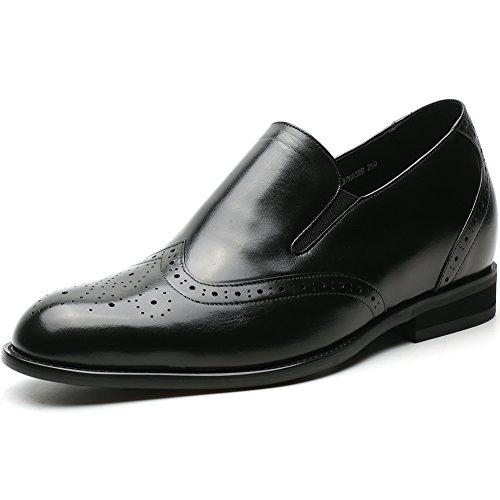 Chamaripa mocassini scarpe con rialzo eleganti derby uomodi pelle per tempo libero/affari commerciali fino 7 cm - h81d37k032d