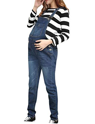 9de19d35df006 zhbotaolang Jeans de Maternité Pantalons Jarretelles - Vêtements de  Grossesse Femmes Salopettes Barboteuses Bretelles Combinaison Ceinture