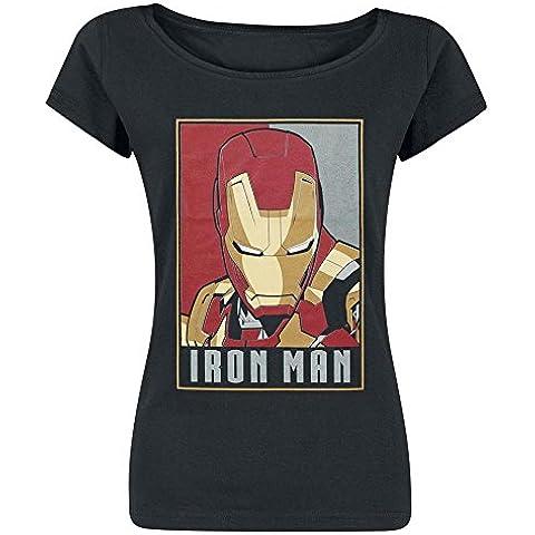 Iron Man Obey Style Camiseta Mujer Negro M