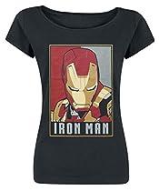 Iron Man Obey Style T-shirt Femme noir M