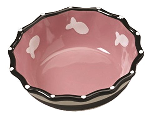 ethical-products-773693-contemporary-ruffle-dish-for-cats-5-inch-pink-by-ethical-products