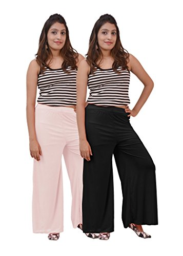 Carrol Women's Plazo combo of 2 (Black and White)