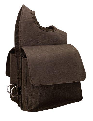 """Weaver Leder Nylon Sattelkopf Tasche, braun, 6"""" X 7 1/2"""" X 2 1/2"""""""