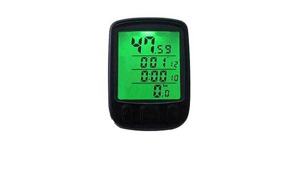 Pegcduu Montagna della Bicicletta di Visione Notturna LCD retroilluminato Digital Display del Computer Impermeabile Tachimetro Ciclismo Speed Meter