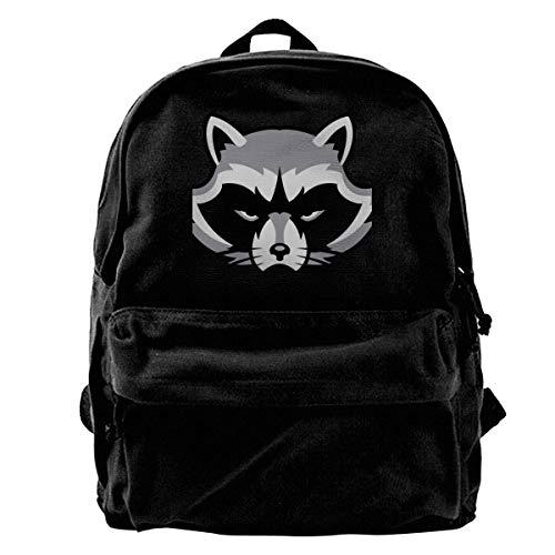 Rucksäcke, Daypacks,Taschen, Classic Canvas Backpack Brown Bear Head Unique Print Style,Fits 14 Inch Laptop,Durable,Black