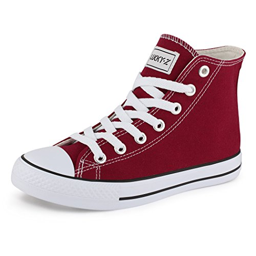 best-boots, Sneaker uomo Rosso (High Top Weinrot)