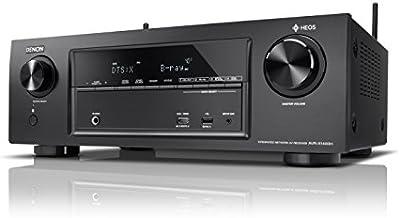 Denon avrx1400h Receptor AV 7.2canales y HEOS integración (Dolby Vision Compatibilidad, Dolby Atmos, dtsx, WiFi, Bluetooth, Spotify Connect, 4K/60Hz 6entradas HDMI, 7x 145W) Negro