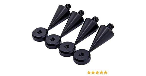 M8 Spike alluminio anodizzato nero//Cono absorber per altoparlanti vite 4 pz