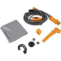 Funnyrunstore Portable 12V Outdoor Camping Dusche mit Tauchpumpe Universal Electric Car Washer Dusche mit Zigarettenanzünder (Orange)