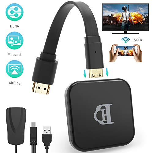 TedGem WiFi-Display-Dongle, WiFi Display Dongle 5G/2.4G WiFi Display 1080P HD, Dongle HDMI für Android Smartphone/PC/TV Monitor/Projektor