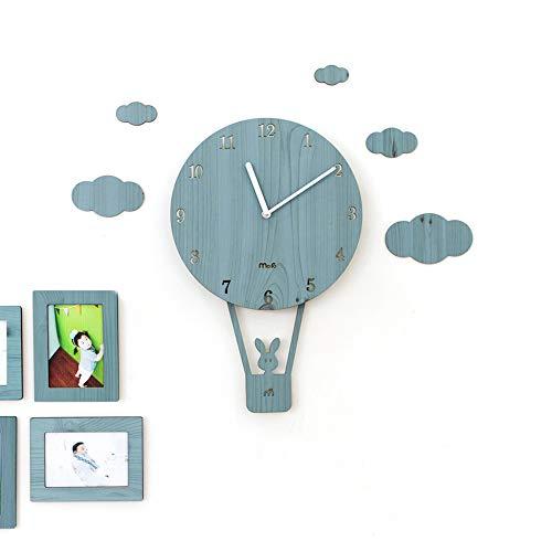 Ibalody europeo moderno cartone animato colorato altalena orologio da parete personalità silenzio famiglia decorativo orologio da parete camera dei capretti soggiorno aisle parete tocsin