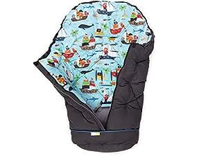 Priebes Miladka Universal Winter Fußsack Für Kinderwagen Buggy Abnehmbares Fußteil Auch Krabbeldecke Wickeldecke Atmungsaktiv Wasserabweisend Design Piraten Baby