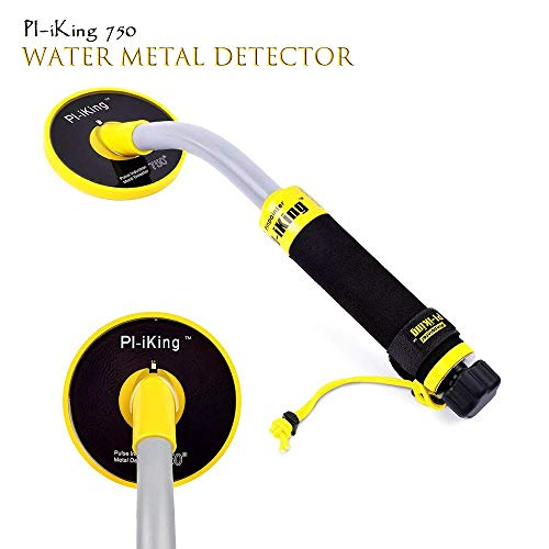 TOPQSC - Metal detector con vibrazione e indicatore di rilevamento LCD, impermeabile fino a 30 m di profondità, portatile, con tecnologia a induzione di impulsi, ideale per la ricerca di tesori 750