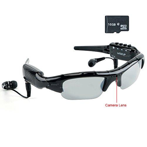 mera Sonnenbrillen Draussen Sport Brillen DV Camcorder mit MP3 Spieler Funktion (Spion-anzug)