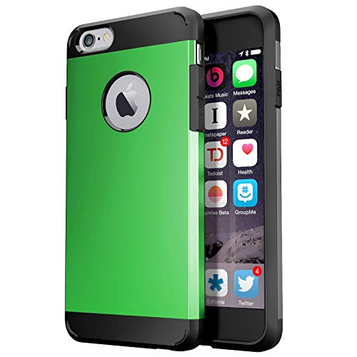 Zitto iPhone 6S Hülle, iPhone 6 Hülle Dual Layer Protective Armor Shock Absorptive Case für iPhone 6S/iPhone 6 - iPhone 6S Hülle, Stoßfeste Hybrid-Hartschale, grün