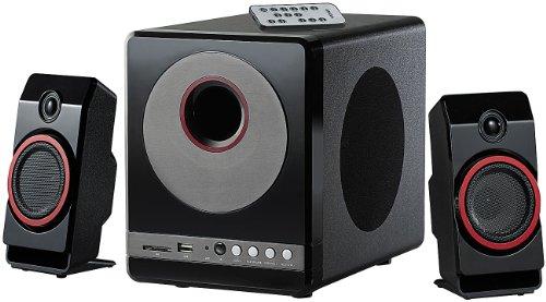 auvisio  MSX-380.M Lautsprecher 2 in 1 Premium-Multimedia-Soundsystem mit Subwoofer, MP3-Player Soundsysteme, 40 Watt